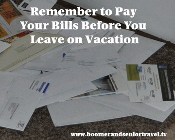 Pay Bills Before Vacation